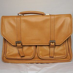 Kenneth Cole New York Leather Briefcase Laptop bag